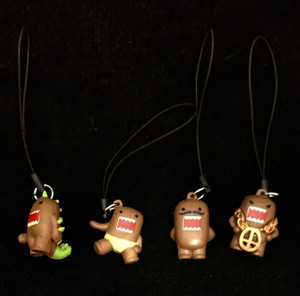 Lot of Domo Kun Cell Phone Charms Dinosaur, Moustache + More!