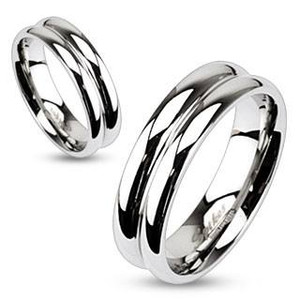 Double Dome Mirror Polished Band Ring