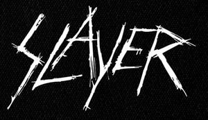 """Slayer - Scratched Logo 7x5"""" Printed Patch"""