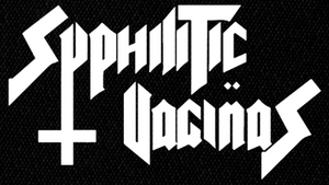 "Syphilitic Vaginas Logo 6x4"" Printed Patch"