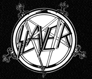 "Slayer Sword Pentagram 5x5"" Printed Patch"