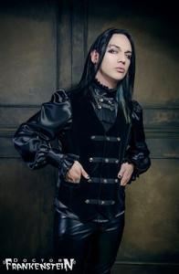 Black Velvet Baroque Victorian Vest