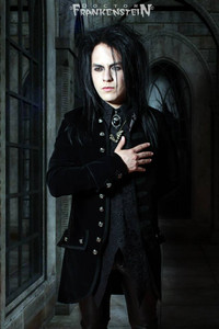 Black Mens Velvet Alucard Coat