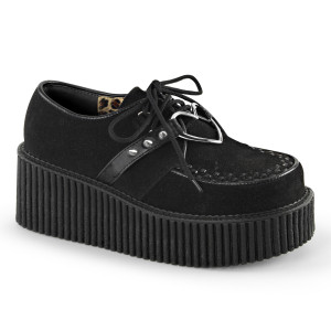 """Women's Heart Ring 3"""" Sole Creepers by Demonia"""