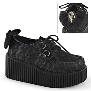 "Women's Lace & Cameo 3"" Sole Creepers by Demonia"