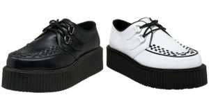 Unisex Vegan Leather Creepers by Demonia