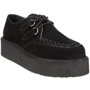 Unisex Vegan Suede Creepers by Demonia