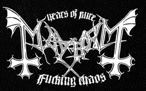 "Mayhem Fucking Chaos 7x5"" Printed Patch"