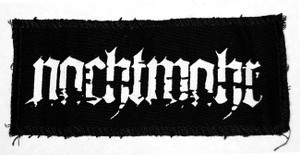 "Nachtmahr Logo 6x3"" Printed Patch"