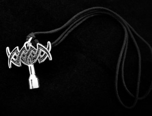 Drum Key Metal Chain Pendant