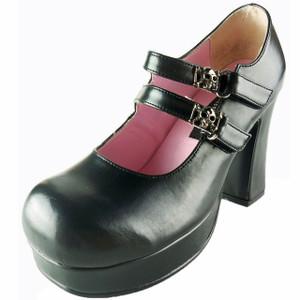 "Women's 3 3/4"" Double Buckle Mary Jane Platform by Demonia"