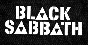 "Black Sabbath Logo 6x3"" Printed Patch"