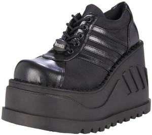 """Women's 4 3/4"""" Wedge Platform Sneakers by Demonia"""
