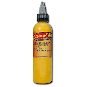 Eternal Ink - Bright Yellow 1/2 Ounce Tattoo Ink Bottle