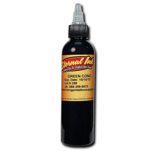 Eternal Ink - Green Conc .5oz  Tattoo Ink