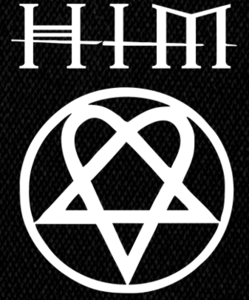 "HIM Heartagram 6x5"" Printed Patch"