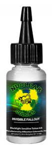 Mom's Ink - U.V. Blacklight Colors - Invisible Fallout 1/2 Ounce Tattoo Ink Bottle