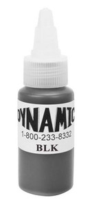 Dynamic Ink - Black 1 Ounce Tattoo Ink Bottle