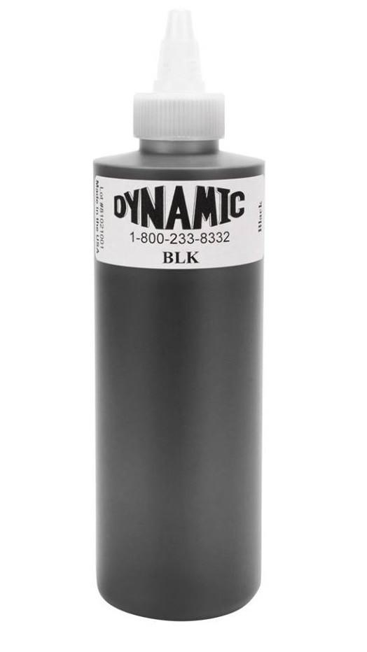 Dynamic Ink Black 8 Ounce Tattoo Ink Bottle