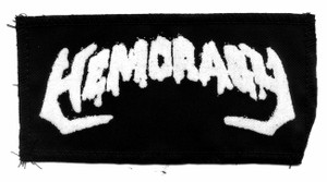"Hemoragy Logo 4x7"" Printed Patch"