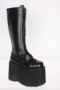 "5 3/4"" 20 Eye Lace-Up Unisex Mega Platform Boots by Demonia"