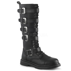 Black Vegan 20 Eye Unisex Combat Boots by Demonia