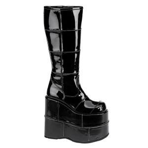 "7"" Platform Unisex Cyber Goth Boots by Demonia"