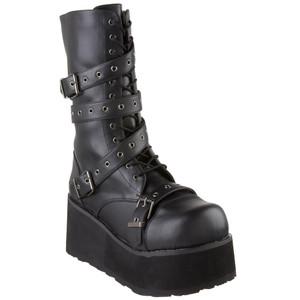 """3 1/4"""" Wrap-Around Strap Unisex Boots by Demonia"""