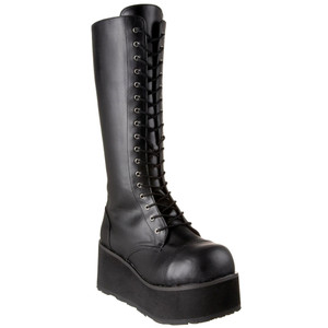 "3 1/4"" 17 Eye Unisex Platform Boots by Demonia"