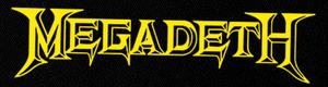 "Megadeth - Logo 6x2"" Printed Patch"
