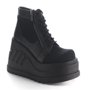 "Women's 4 3/4"" Wedge Platform Sneaker Bootie by Demonia"