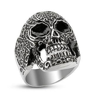 Day of the Dead Skull Cast Ring