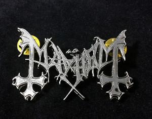"Mayhem - Logo 2"" Metal Badge Pin"