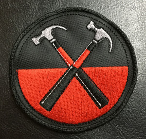"Pink Floyd Hammers 3x3"" Embroidered Patch"