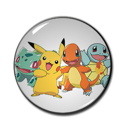 "Pokemon Starters 1.5"" Pin"