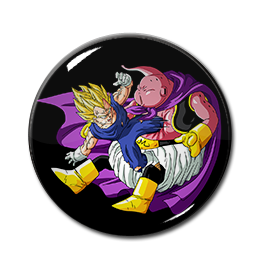 "Vegeta vs. Majim Boo 1.5"" Pin"