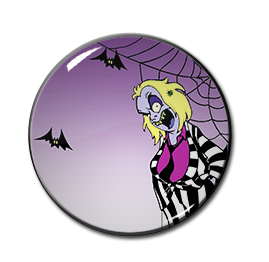 "Beetlejuice Cartoon 1.5"" Pin"