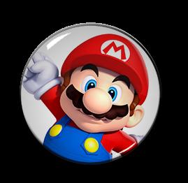 "3D Mario 1.5"" Pin"
