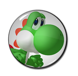 """3D Yoshi 1.5"""" Pin"""