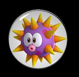 """3D Urchin 1.5"""" Pin"""