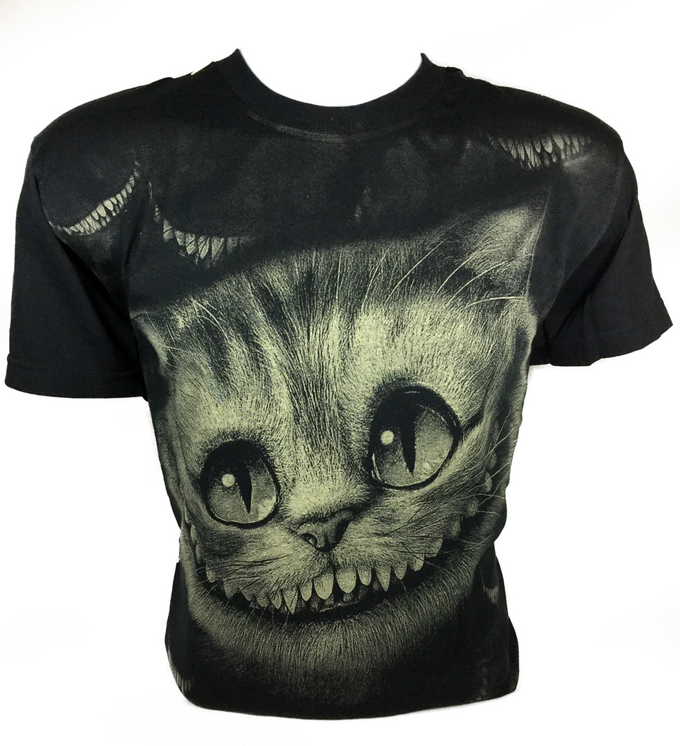 b3a47c9d Resurrection - Alice in Wonderland's Cheshire Cat T-Shirt, Live Action  Movie, Movie T-Shirts, Horror Apparel, Resurrection Clothing