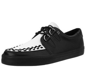 T.U.K. Shoes - A9180 Black & White Leather D-Ring VLK Sneaker
