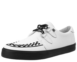 T.U.K. Shoes - A9179 White Leather D-Ring VLK Sneaker