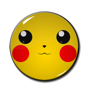 "Pikachu Face 2.25"" Pin"