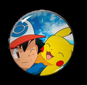 "Ash & Pikachu 2.25"" Pin"
