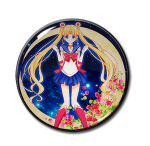 """Sailor Moon with Roses 2.25"""" Pin"""