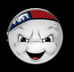 "Stay Pufft Marshmallow Man 2.25"" Pin"