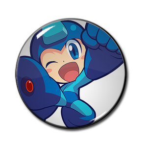 "Mega Man Powered Up 2.25"" Pin"