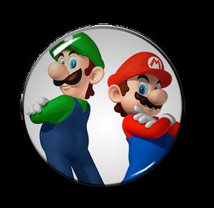 "Mario & Luigi Up 2.25"" Pin"