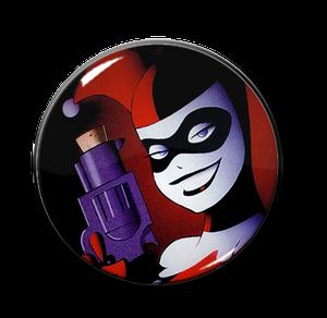 """Batman - Harley Quinn Pistol 2.25"""" Pin"""